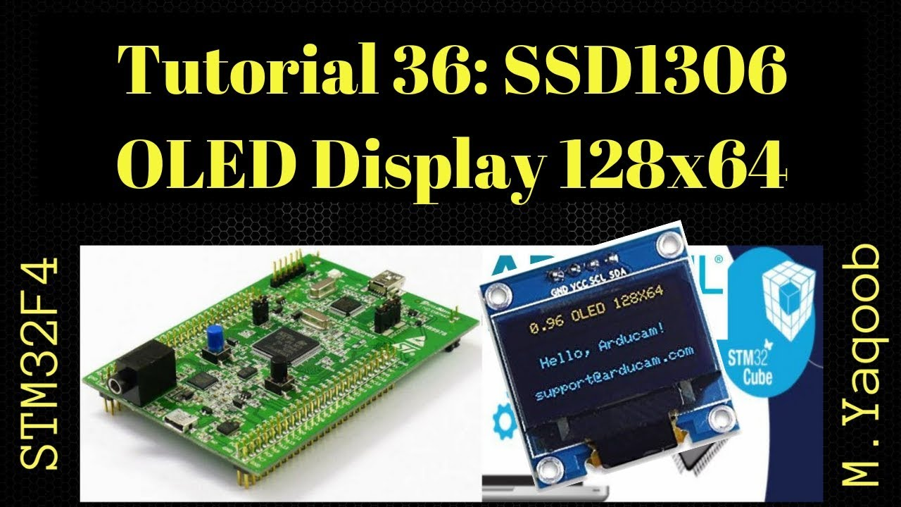STM32F4 Discovery board - Keil 5 IDE with CubeMX: Tutorial 36 - SSD1306  128x64 OLED Display