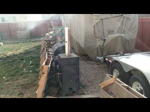Homemade shop heater from car radiator