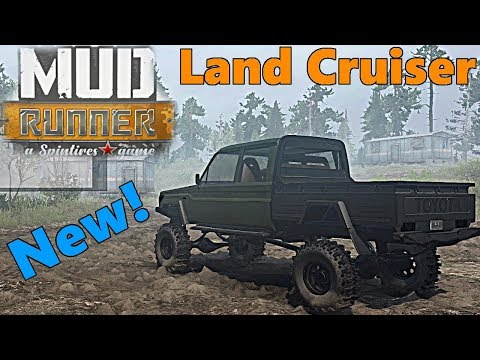 SpinTires Mud Runner: Mod Preview! NEW Land Cruiser by Smed thumbnail
