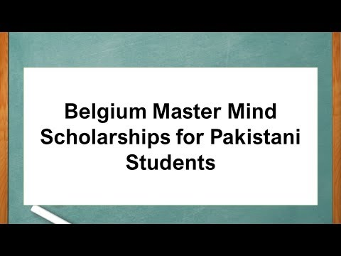 Belgium Master Mind Scholarships for Pakistani Students