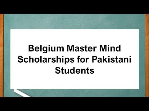 Belgium Master Mind Scholarships for Pakistani Students