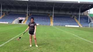 My first hurling lesson!