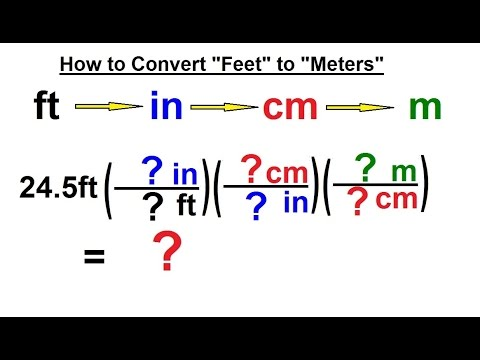 Physics Chapter 0 General Intro 12 Of 20 How To Convert Feet Meters