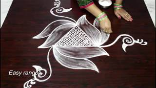 How to draw beautiful bird kolam designs || latest rangoli designs || muggulu designs