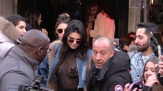 EXCLUSIVE : Kendall Jenner and Bella Hadid go to Avenue restaurant in Paris