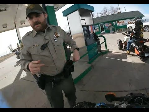 BIKERS VS COPS - Bikers Take Off On COPS At The Gas Satation #25 - FNF