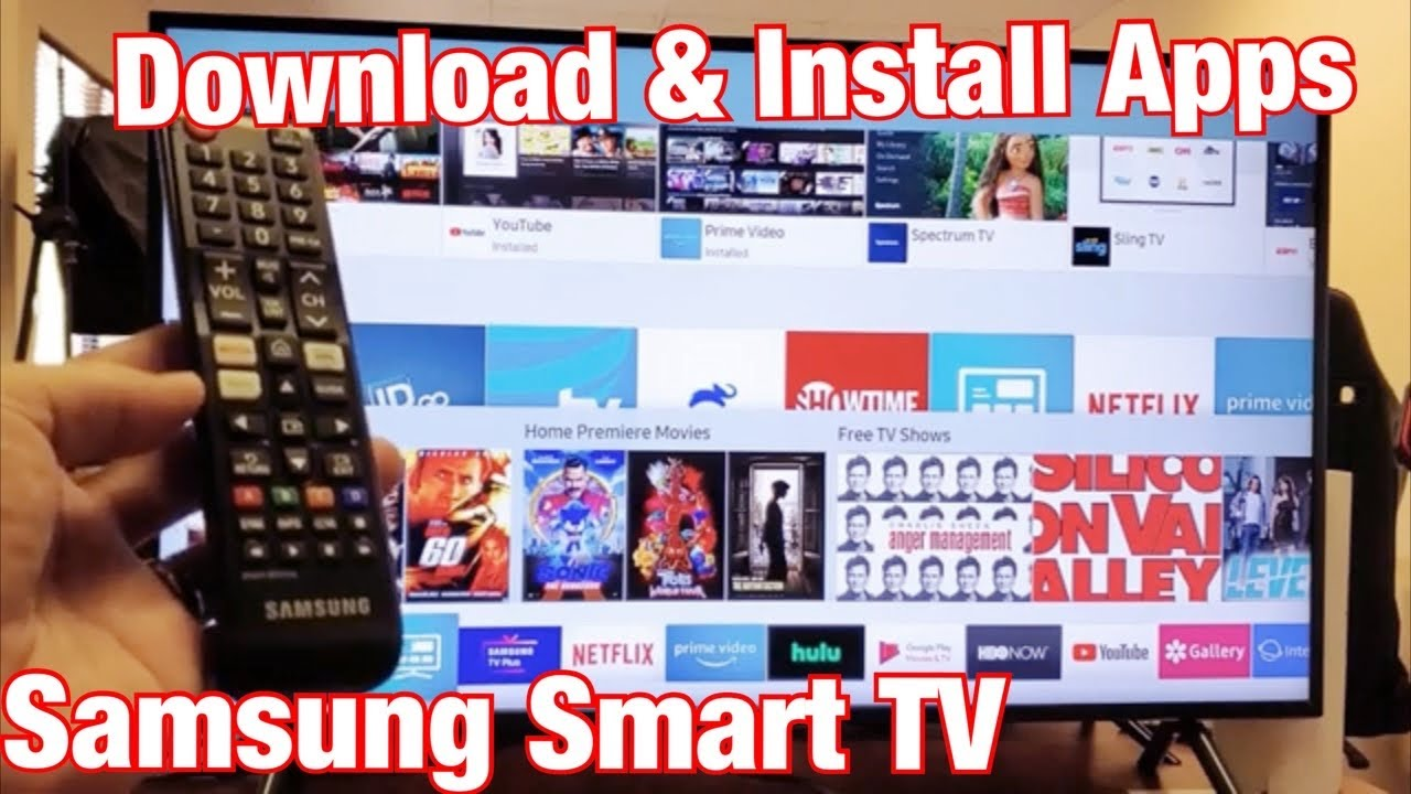 Samsung Smart Tv How To Download Install Apps Youtube