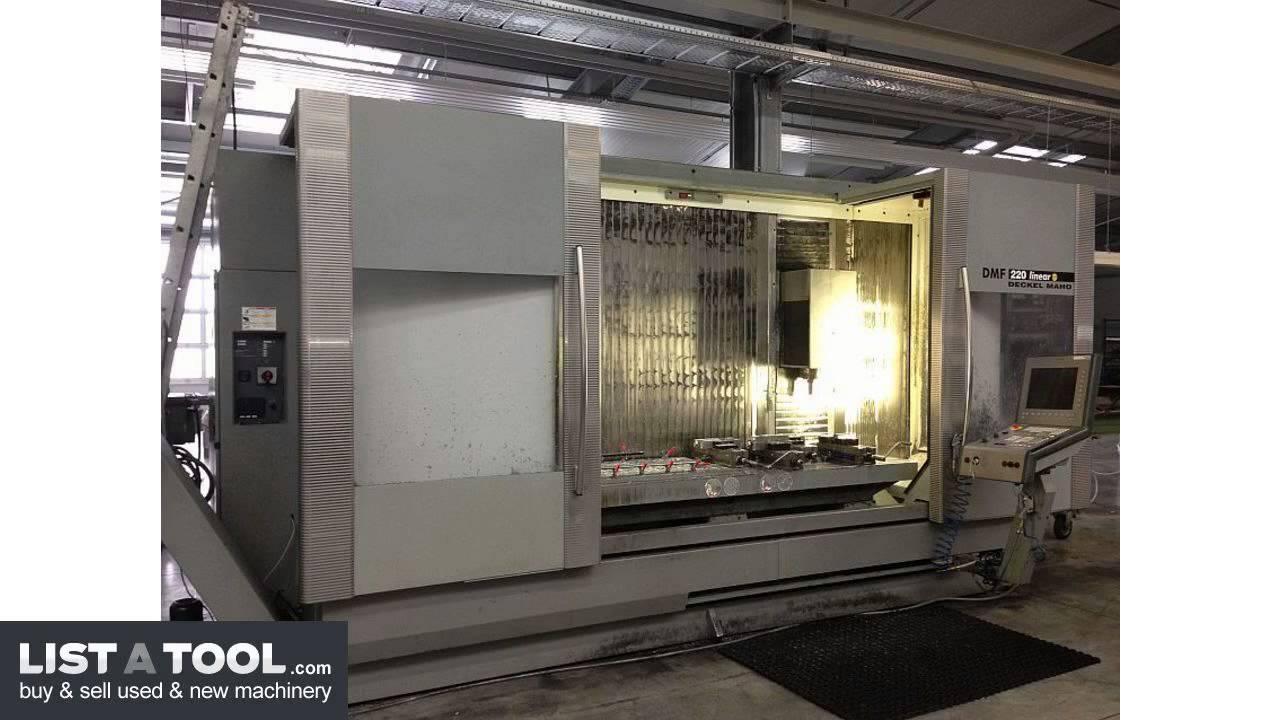 Dmg deckel maho dmf 220 linear cnc vertical machining for Dmg deckel maho
