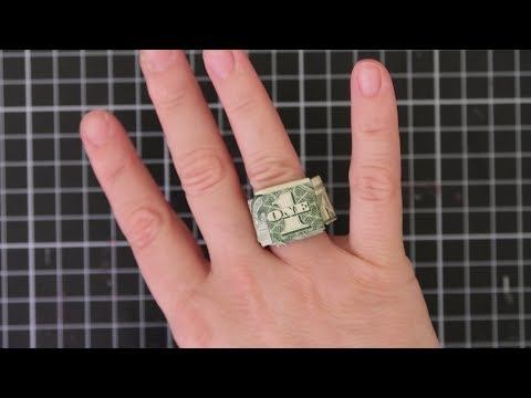 Easy Dollar Bill Money Origami Ring