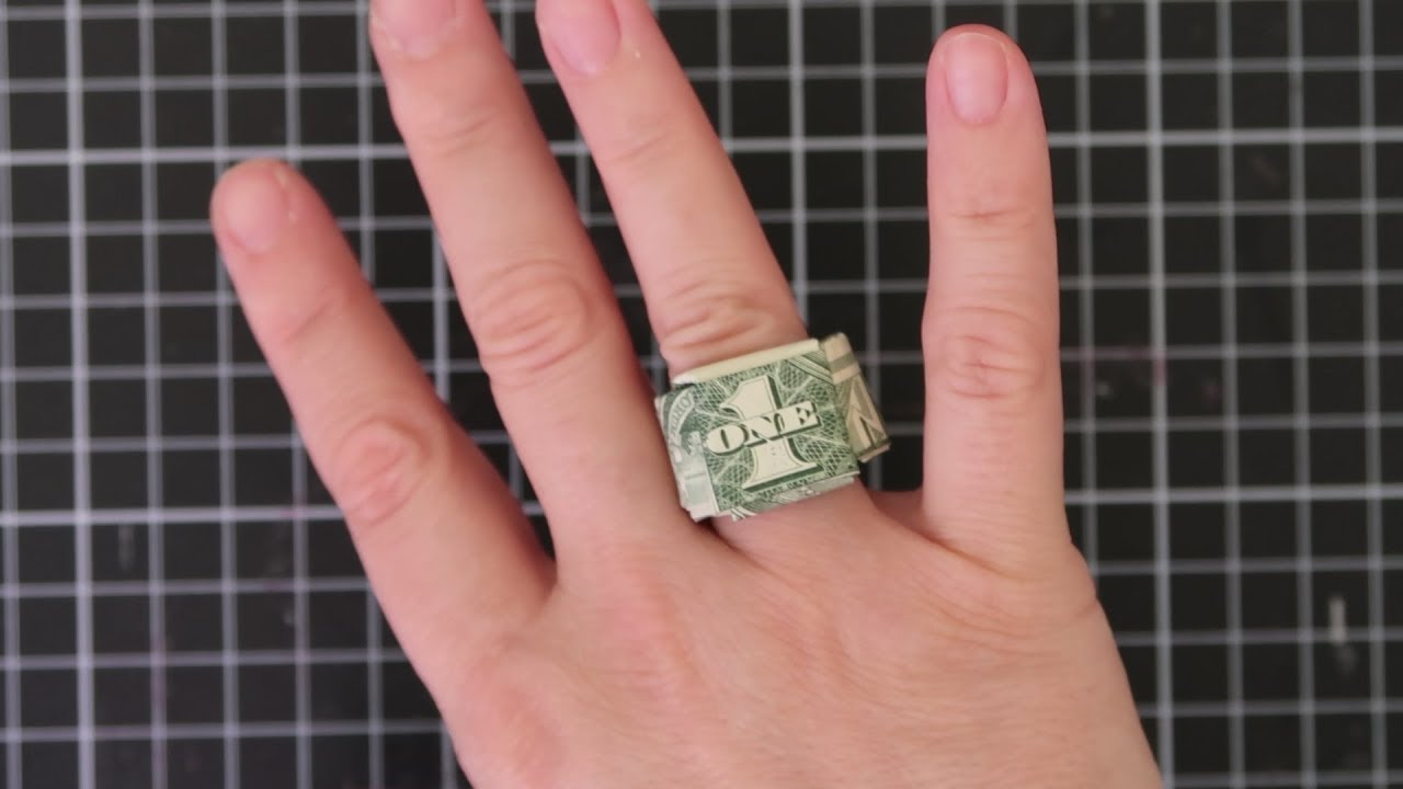 Money Origami Ring 4 Ways | Money origami, Origami ring, Dollar origami | 720x1280