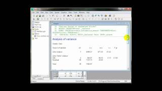 How to run a simple ANOVA in GenStat