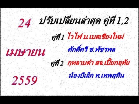 วิจารณ์มวยไทย 7 สี อาทิตย์ที่ 24 เมษายน 2559 (คู่ที่ 1,2) ปรับเปลี่ยนล่าสุด