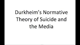 the sociological imagination and durkheim s view on suicide The sociological imagination view of man one of the most important studies that started this tradition was émile durkheim's study on suicide.