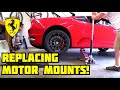 How to replace the motor mounts on a Ferrari F430