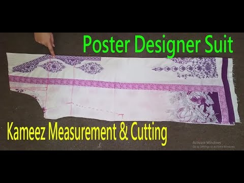 Kameez Cutting|Kameez Measurement & Cutting|How To Measure & Cut Kurti-Shirt|Poster Design|Pakistani thumbnail