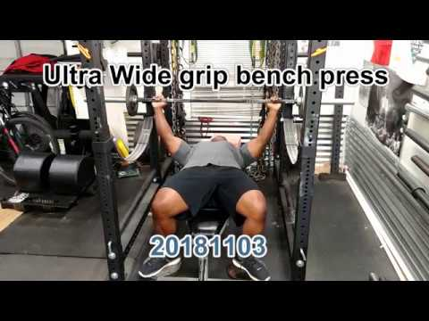 Going wide on the bench press garage gym athlete youtube