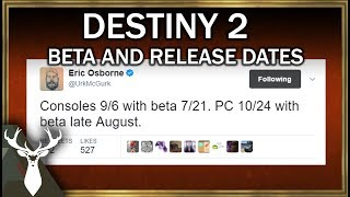 destiny 2   beta and launch dates ps4xbox consoles pc
