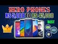#GTU 'Hero Phones' Starting From 5000 INR To 45000 INR, Best Processor, Camera and Price
