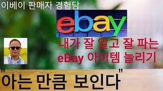 """내가 잘 알고 잘 파는 eBay 아이템 늘리기  """"아는…"""