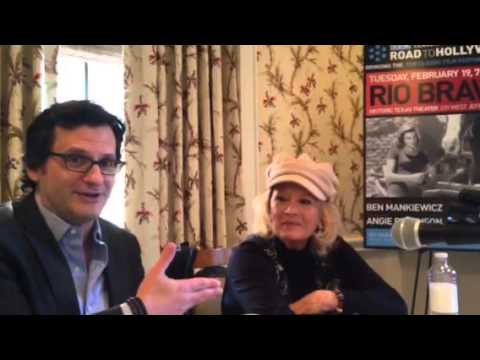 Ben Mankiewicz and Angie Dickinson in Dallas for RIO BRAVO