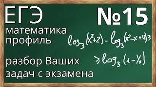№15. Реальные задачи с профильного ЕГЭ 2018 по математике. Разбираем Ваши задачи.
