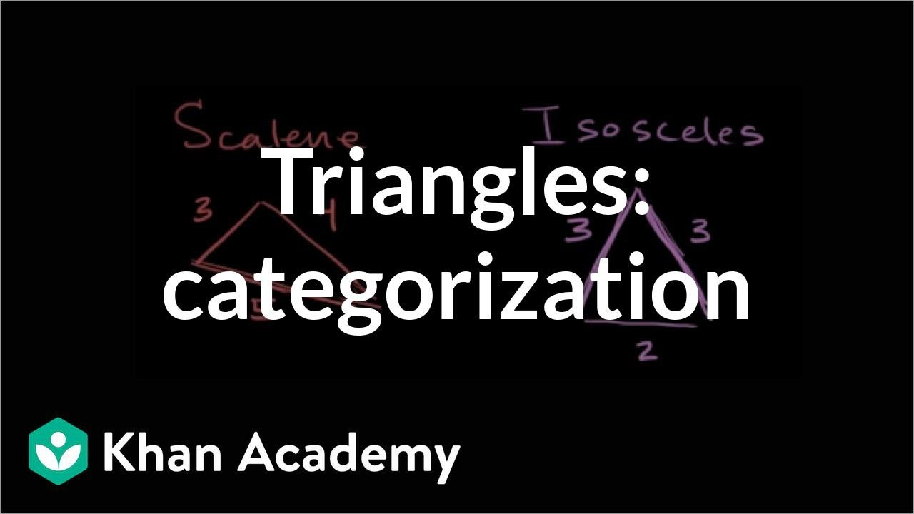 Classifying triangles (video)   Triangles   Khan Academy [ 720 x 1280 Pixel ]