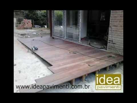 Como construir um deck de madeira youtube for Como construir pileta de material