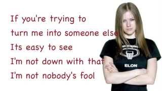 Avril Lavigne - Nobody's Fool - Lyrics