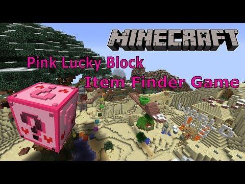 Minecraft: Pink Lucky Block Item Finder Game