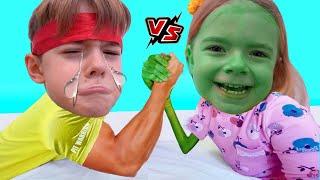 Lupta intre fete si baieti