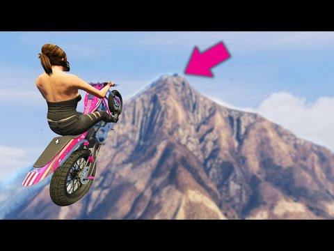 SKY HIGH BIKE CHALLENGE! (GTA 5 FUNNY MOMENTS)
