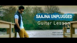 Saajna (Unplugged) Falak Shabir   Guitar Lesson   I Me aur Main #Saajna #FalakShabbir