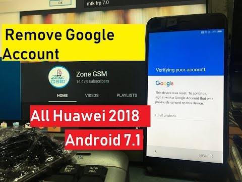 New Method 2018 JUNE 2018 All Huawei 2018 Remove Google Account Unlock FRP  Android 7 100% working