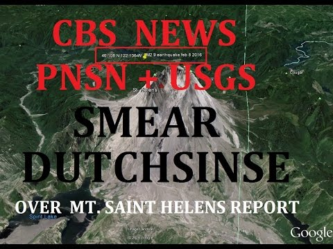 3/05/2016 -- Dutchsinse calls media !  Smeared by CBS News / PNSN + USGS over Mt. Saint Helens EQ