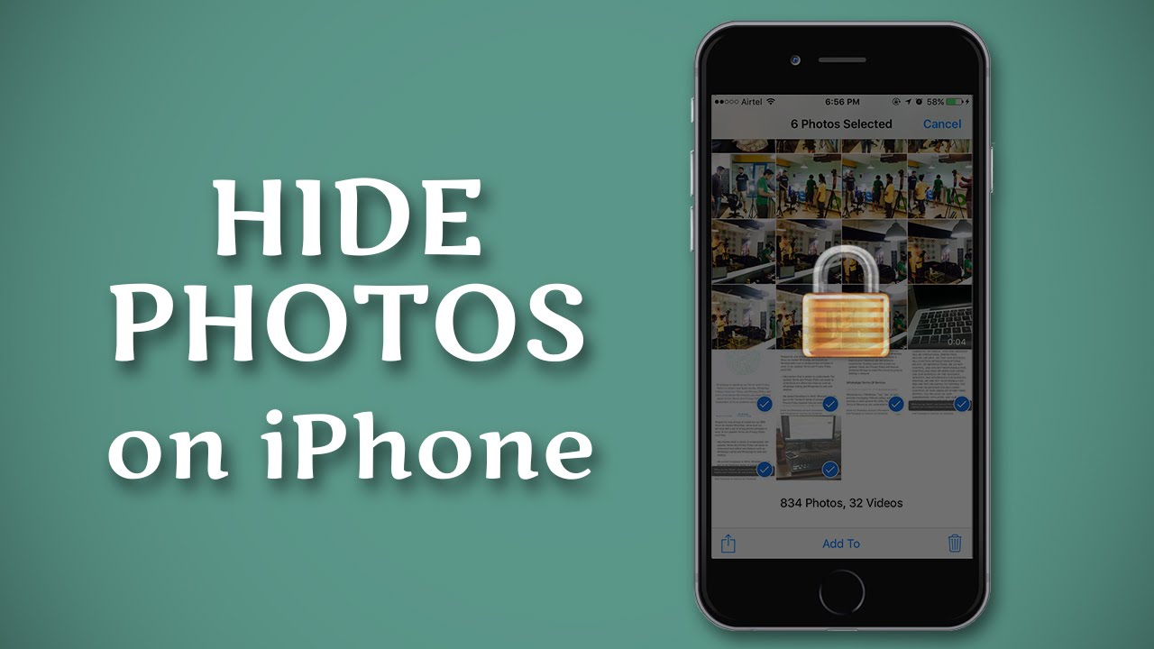How to Hide Photos on iPhone - YouTube