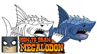 How to Draw Megalodon | Jurassic World (Art Tutorial)