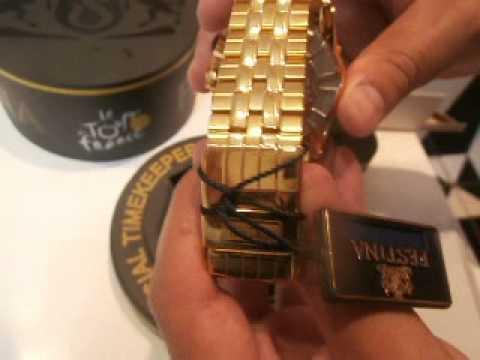 0f4bd2c0f18 Relógio Festina Dourado - YouTube