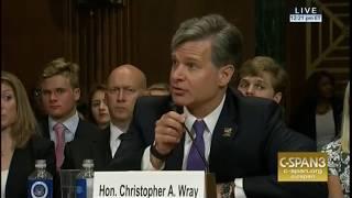 Franken praises FBI Director nominee Chris Wray for