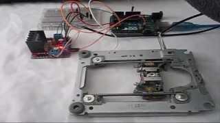 Moteur pas à pas (CD-ROM) piloté par un L298N sur un arduino