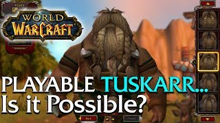 Is a Playable Tuskarr possible? | World of Warcraft