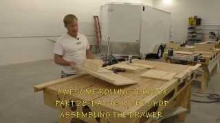 Building A Mobile Woodshop (part 28) A Shop Jig To Make Drawer Assembly Easy.