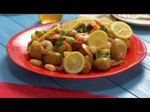 Sheet Pan Shrimp Bake - Good Food Fast