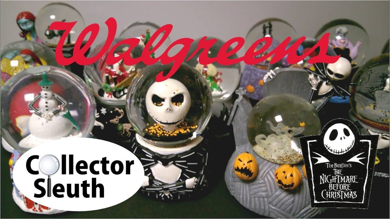 walgreens nightmare before christmas disney villain snow globes - Nightmare Before Christmas Snow Globes