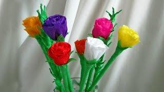 Роза из гофрированной бумаги(Из этого видео вы узнаете, как сделать розу из гофрированной бумаги. Для изготовления розы из бумаги вам..., 2016-10-14T15:04:59.000Z)