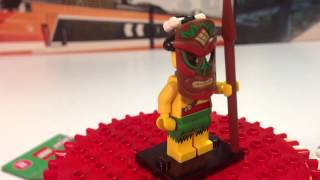 Lego Series 11 Minifigure #5 Island Warrior /Tiki - Bump or Dot Code