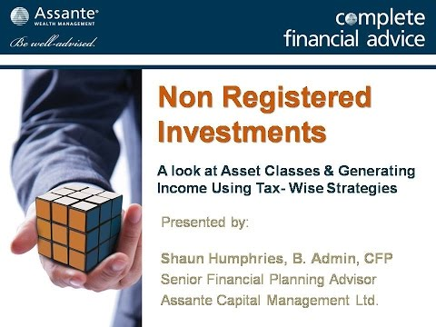Creating Income From Non Registered Investments