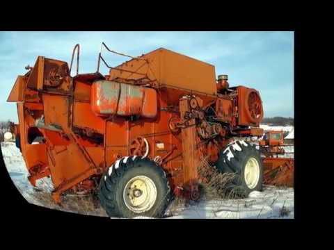 Стоянка заброшенной сельхозтехники Россия Рязанская область