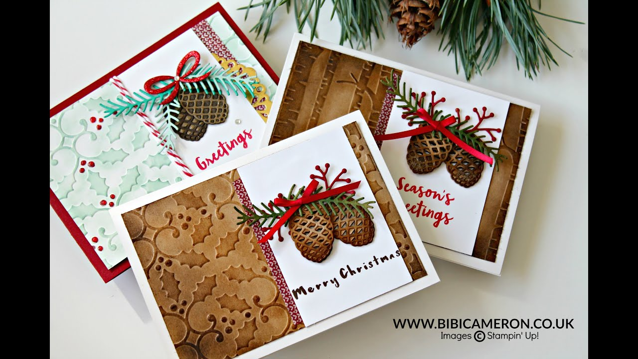 Pretty Pines Thinlits Dies By Stampin Up YouTube
