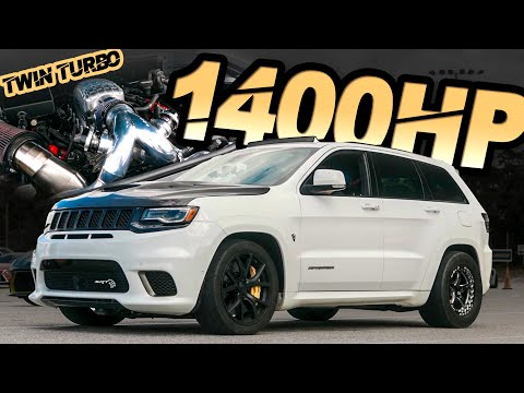 1400HP Jeep Trackhawk - The World's FIRST TWIN TURBO TRACKHAWK! ('Big Hawk' Breaks the MPH Record)