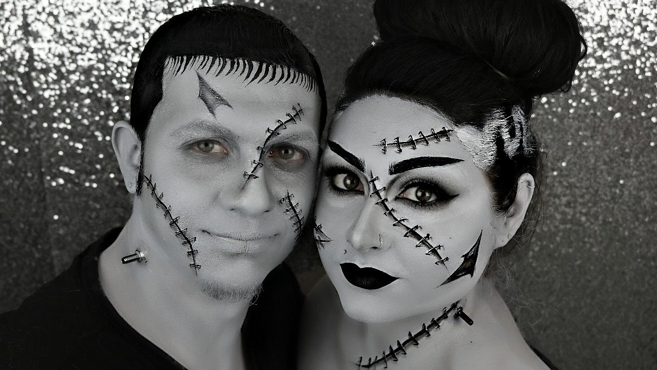 Frankenstein And His Bride | Couples Halloween Makeup Tutorials ...